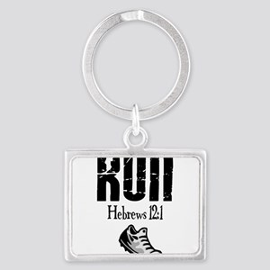 run hebrews Landscape Keychain
