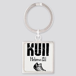 run hebrews Square Keychain