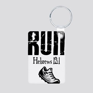 run hebrews Keychains