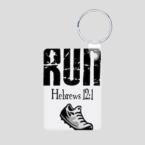 run hebrews Keychains