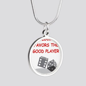 DICE Silver Round Necklace