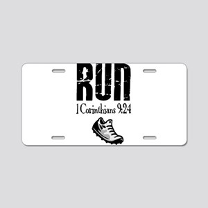 run fixed Aluminum License Plate