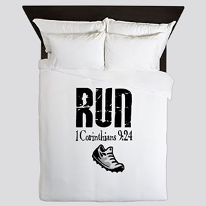 run fixed Queen Duvet