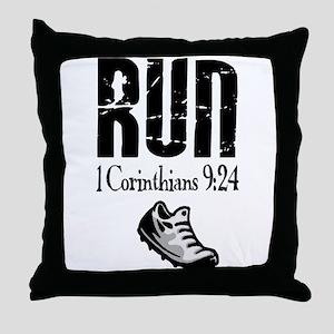 run fixed Throw Pillow
