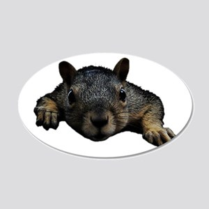 Squirrel 20x12 Oval Wall Decal
