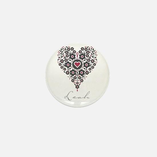 Love Leah Mini Button
