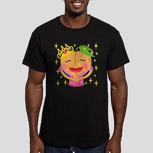 Emoji Peach Princess Men's Fitted T-Shirt (dark)
