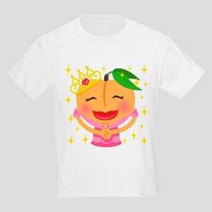 Emoji Peach Princess Kids Light T-Shirt