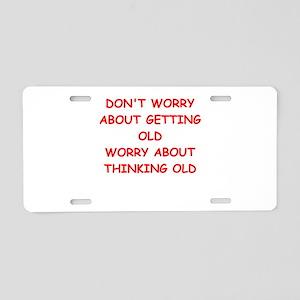old Aluminum License Plate