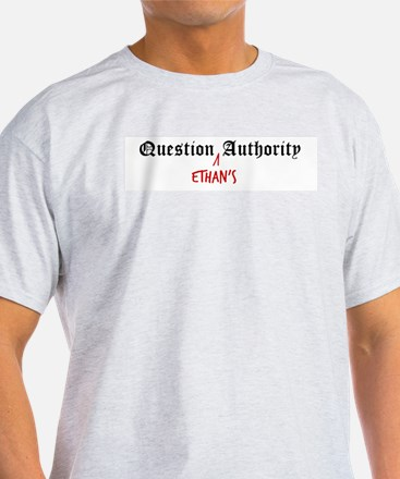 Question Ethan Authority Ash Grey T-Shirt