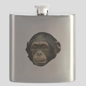 Chimp Face Flask