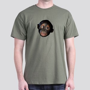 Baby Orangutan Face Dark T-Shirt