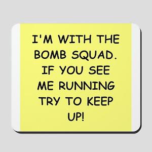 bomb squad Mousepad