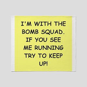 bomb squad Throw Blanket