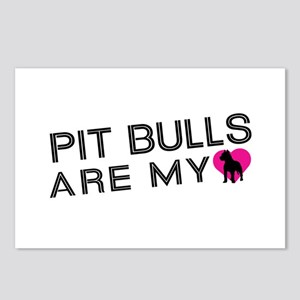 Pit Bulls Are My Love Postcards (Package of 8)