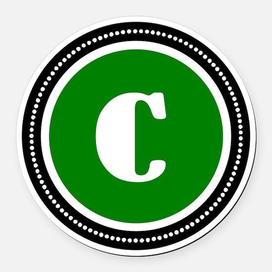 Green Round Car Magnet
