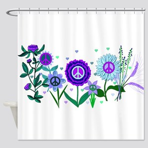 Growing Peace Shower Curtain