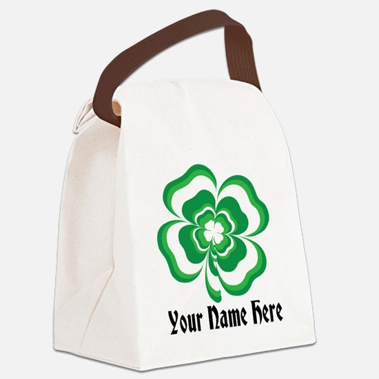 Customizable Stacked Shamrock Canvas Lunch Bag