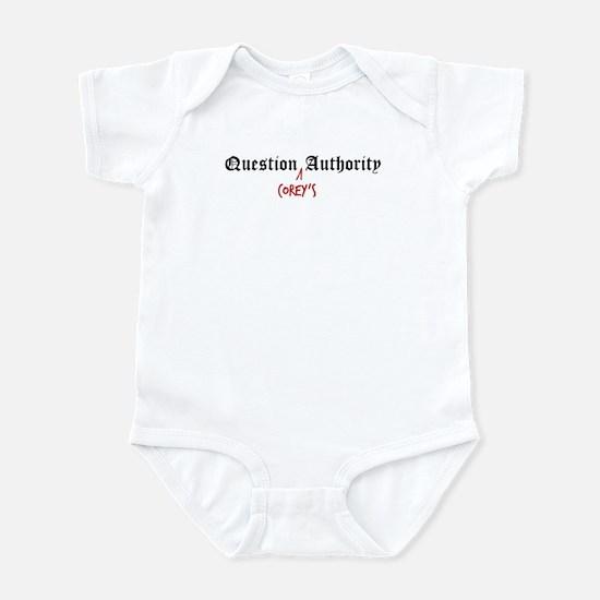 Question Corey Authority Infant Bodysuit