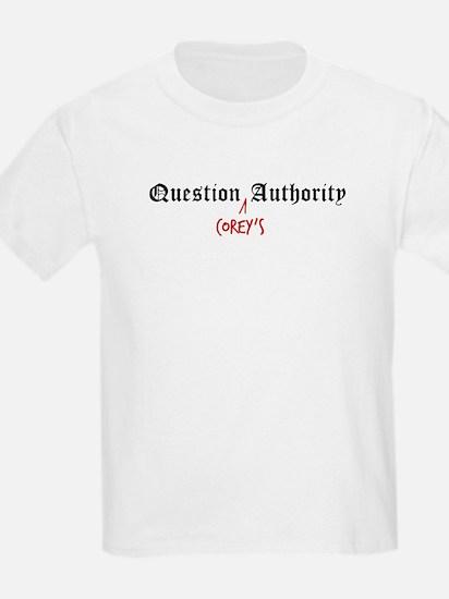 Question Corey Authority Kids T-Shirt