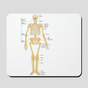 Skeleton chart Mousepad