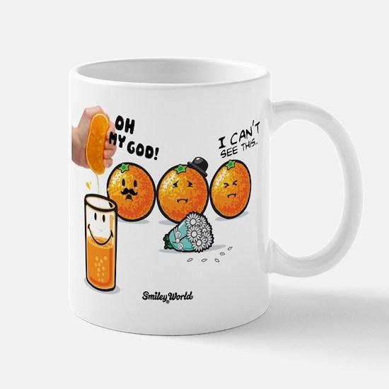 orange smiley Mug