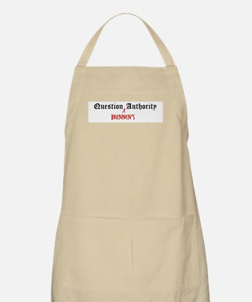 Question Brennen Authority BBQ Apron