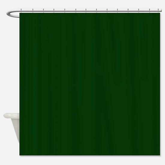 Dark Green Shower Curtain