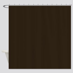Dark Brown Shower Curtain