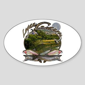 Logan canyon Sticker (Oval)