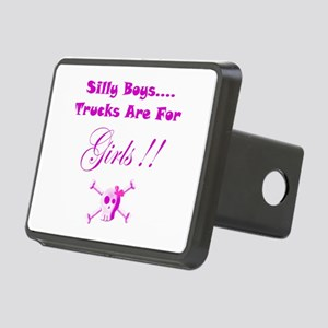Trucks are for Girls Rectangular Hitch Cover