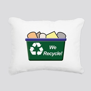 We Recycle Rectangular Canvas Pillow