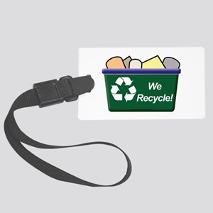 We Recycle Luggage Tag