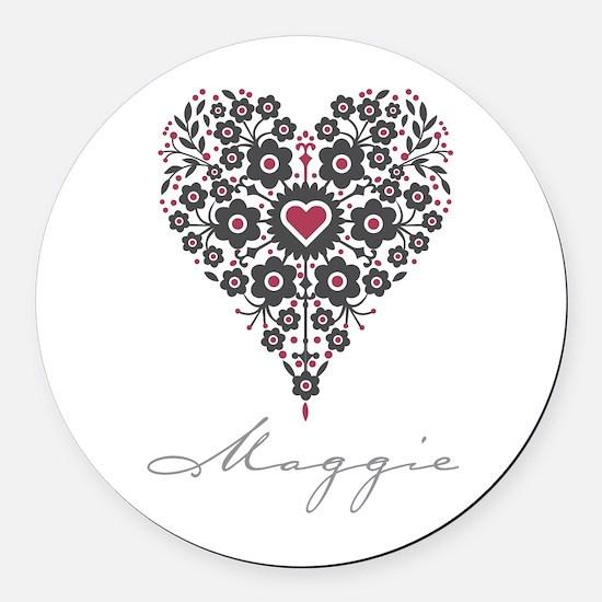 Love Maggie Round Car Magnet