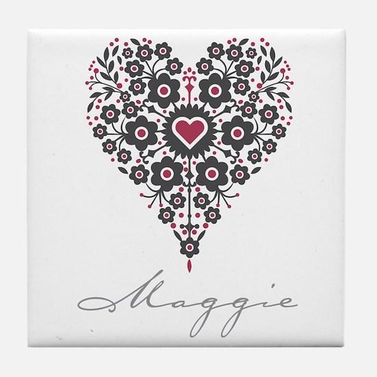 Love Maggie Tile Coaster