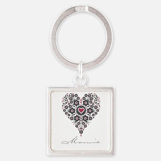 Love Mamie Square Keychain