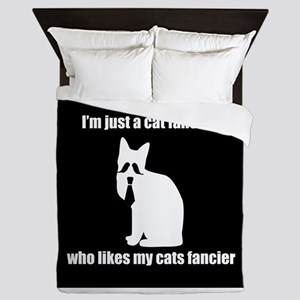cat fancier 3 Queen Duvet