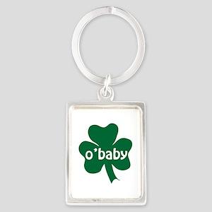 O'Baby Shamrock Portrait Keychain