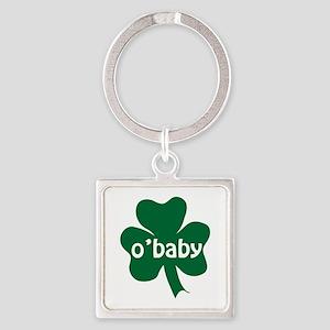 O'Baby Shamrock Square Keychain