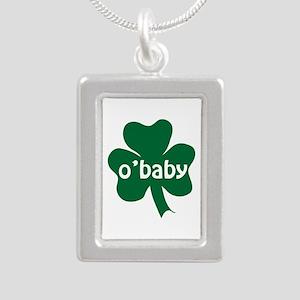 O'Baby Shamrock Silver Portrait Necklace