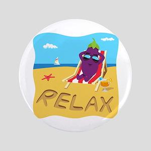 Emoji Eggplant Relax Button