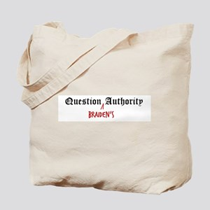 Question Braiden Authority Tote Bag
