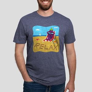 Emoji Eggplant Relax Mens Tri-blend T-Shirt