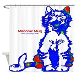 Funny Hello Meoow Shower Curtain