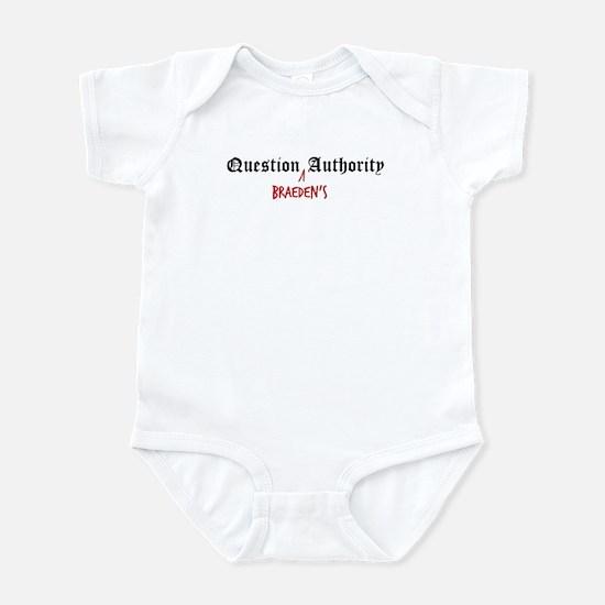 Question Braeden Authority Infant Bodysuit
