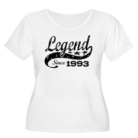 Legend Since 1993 Women's Plus Size Scoop Neck T-S