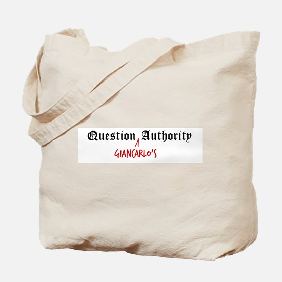 Question Giancarlo Authority Tote Bag