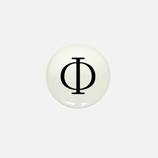 Greek Phi Golden Ratio Mini Button
