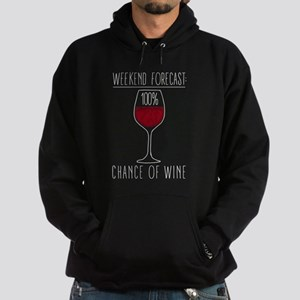 100 Percent Chance of Wine Hoodie (dark)