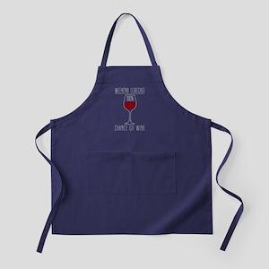 100 Percent Chance of Wine Apron (dark)